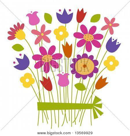 Bouquet von Blumen - Vektor