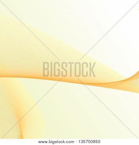 Warm light orange fractal background - vector