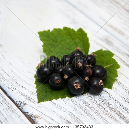 Blackcurrant On The Wooden Table