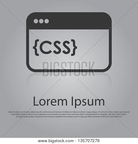 Vector Icon Of Css Concept