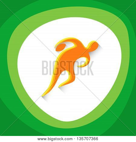 Rugby Player Sport Game Logo Competition Icon Vector Illustration