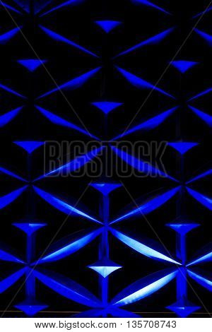 Architecture Abstract Wall Art For Background Use (blue Dark Tone)