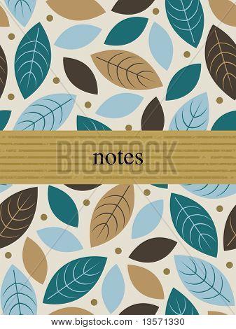 Template frame design for greeting card .leaf background