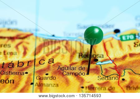 Aguilar de Campoo pinned on a map of Spain