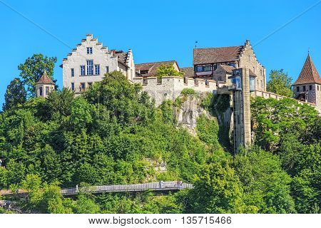 Laufen-Uhwiesen, Switzerland - 22 June, 2016: the Laufen Castle. Laufen Castle is a castle in the municipality of Laufen-Uhwiesen in the Swiss canton of Zurich. It is a Swiss heritage site of national significance, overlooking the famous Rhine Falls.