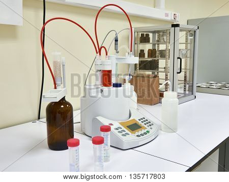 The automatic titrator in the biochemical laboratory
