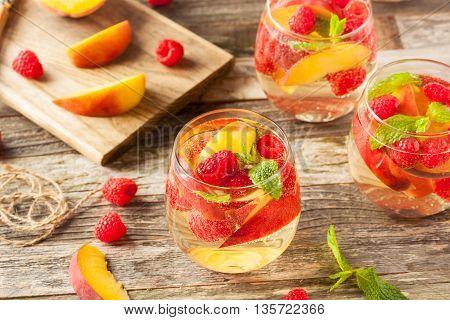 Homemade Sparkling White Wine Sangria