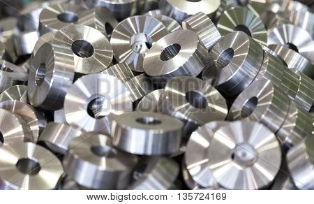 Steel round parts - bushings rollers rollers. All the details are the same.