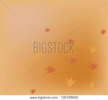 Autumn background with yellow and red leaves
