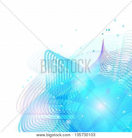 Colorful abstract texture. Vector design background. Blue abstract shape. Vector grid texture