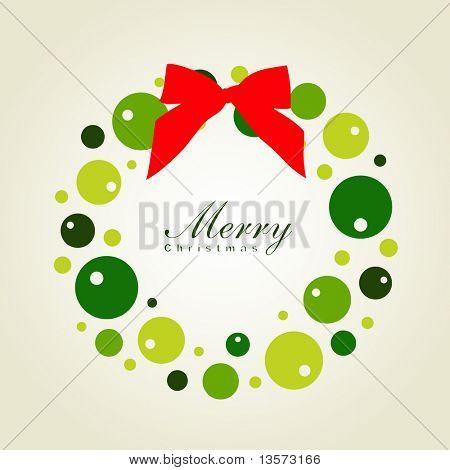 Christmas wreath card template