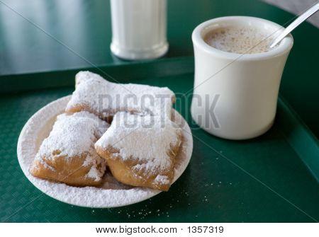 Beignets And Cafe' Au Lait