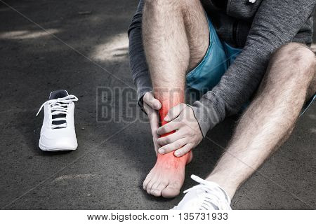Man Having Leg Injury