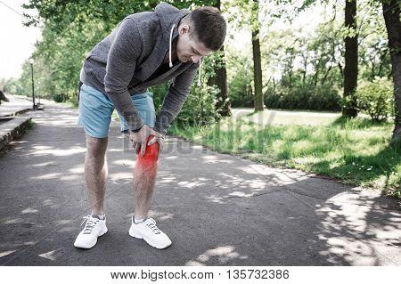 Man Having Knee Injury
