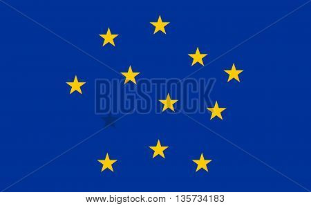Abstract Flag of European Union with blended stars. Detailed star flag Euro. EU Flag. Euro Flag.