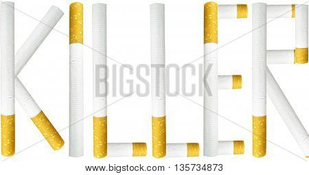 word killer write with cigarettes
