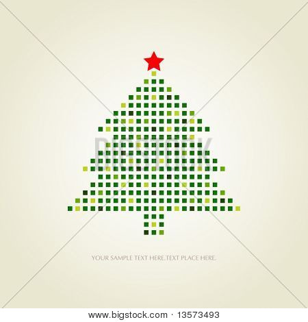 dotted christmas card