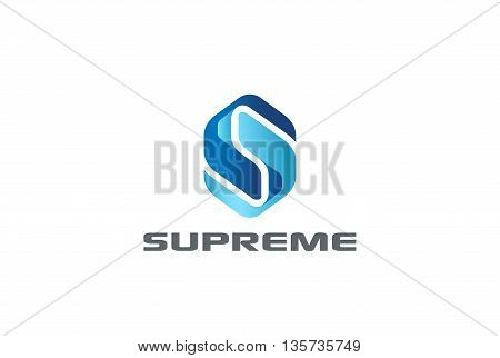 Letter S Corporate Technology Logo abstract Hitech Digital icon