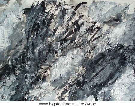 abstract black and white