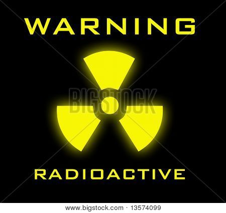 An illustration of a radioactive warning sign