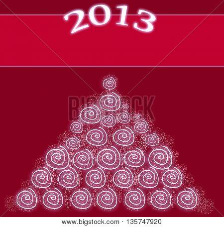 christmas tree ,happy new 2013 year