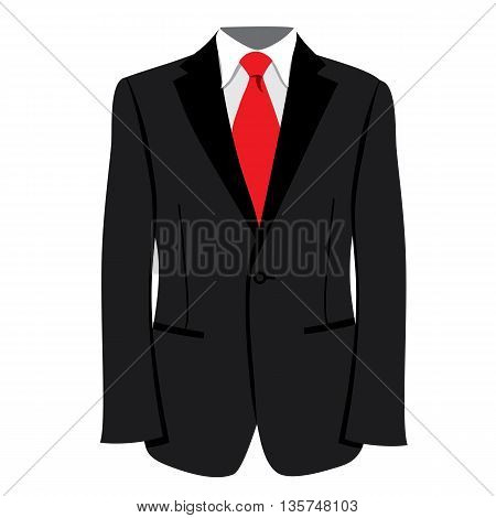 Vector men's tuxedo or jacket. Men tuxedo, jacket vector illustration. Men's fashion