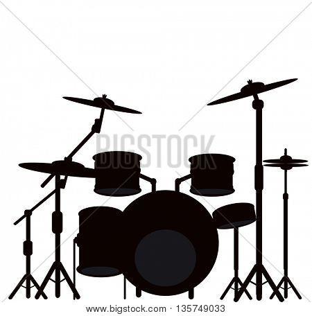 illustration of a drum kit