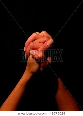 A photo of a woman praying
