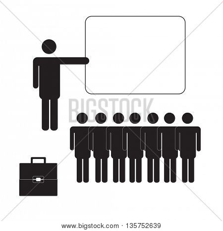 silhouettes of men speaking -BUSINNES LEADER