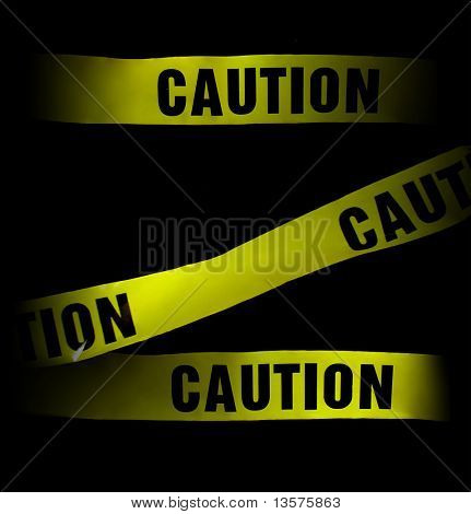 A photo of caution tape, great for use as a background