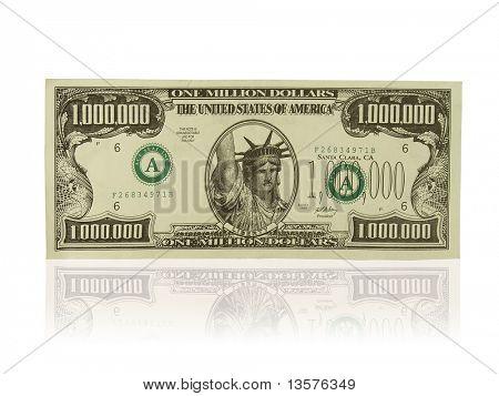 A photo of a gag one million dollar bill