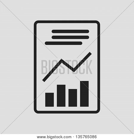 Report icon sign. Report icon flat design. Report icon for app. Report icon for logo. Report icon picture. Flat icon on white background. Vector