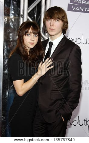 Paul Dano and Zoe Kazan at the World premiere of 'Revolutionary Road' held at the Mann Village Theater in Westwood, USA on August 15, 2008.