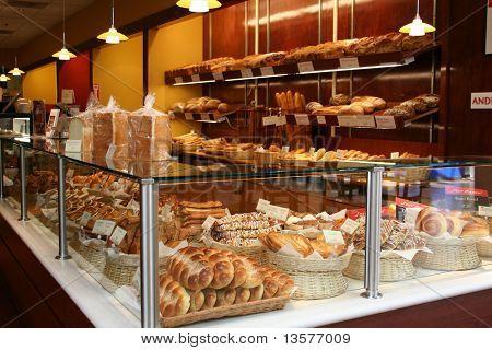 A photo of a bakery