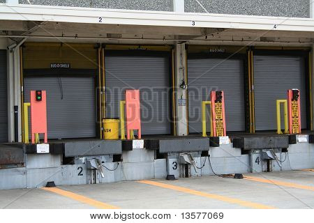 A photo of a loading zone