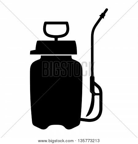 Knapsack sprayer ( shade picture ) on white background