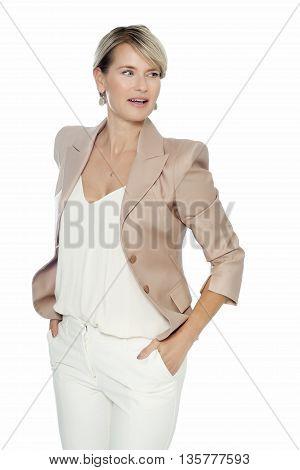 Elegant Woman In White