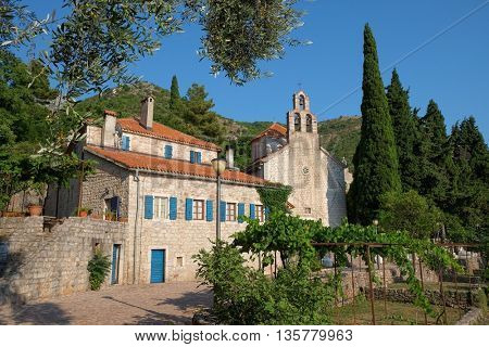 Praskvica Monastery is a Serbian Orthodox monastery in Celobrdo, village in the Budva municipality, Montenegro