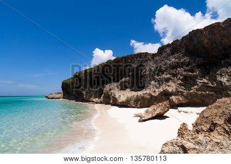 The coastline of Havana Cuba with beach