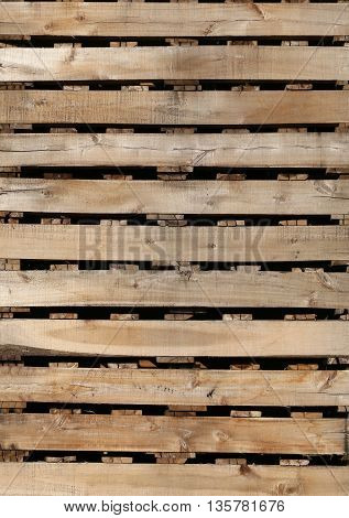 old wood texture of pallets for backgroundPlanks used to make placing the product for the industry.