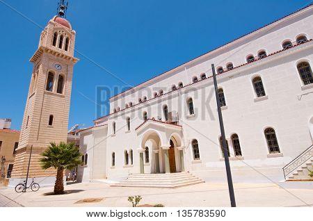 Megalos Antonios church in Rethymnon city on the island of Crete Greece.