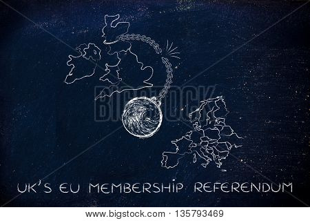 Uk's Eu Referendum, Broken Ball & Chain (leavers' Point Of View)