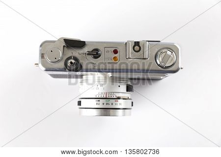 Old Vintage Camera On White Background