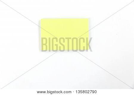 Sticky Notepad On White Background