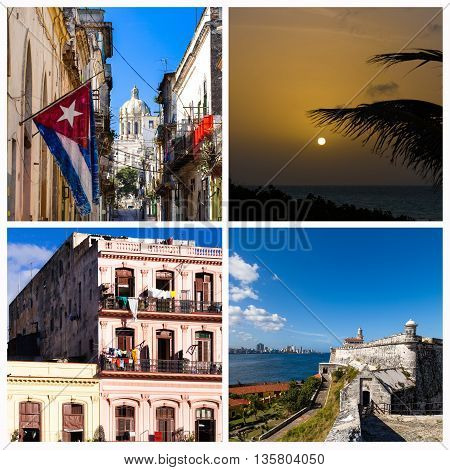 A Cuba photo collage from Havana Cuba