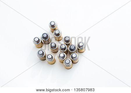 Cartridges Of .45 Acp Pistols Ammo Lead Bullet.