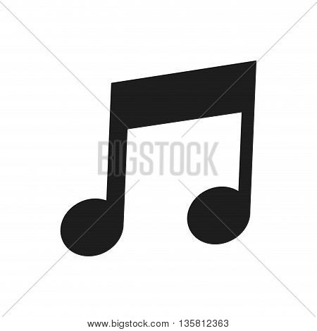 flat design of musical eighth note icon vector illustration