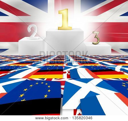 Winner Loser United Kingdom Flags Fpr Example Brexit Winner