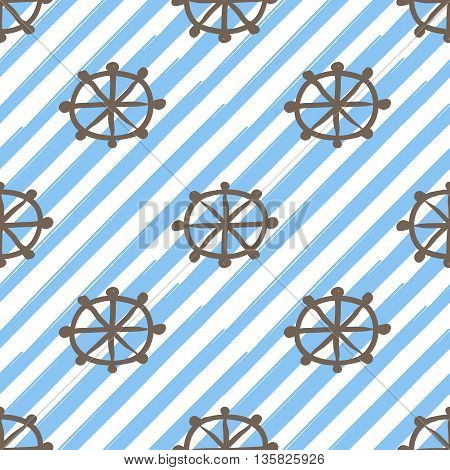 Helm Hand Drawn Frock Style Background Seamless Pattern Vector