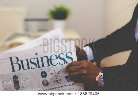 a businessman who presents it in a nice way that business advantages or disadvantages